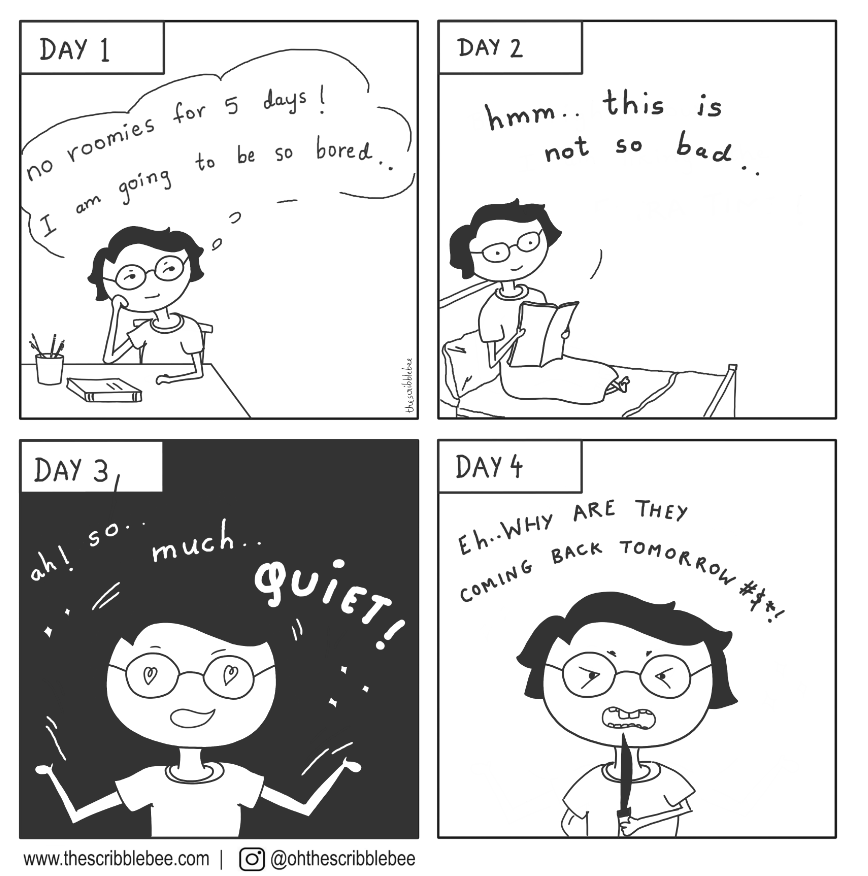 comic for introvert on life with room mates